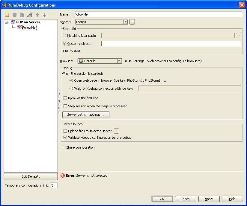 как запустить php скрипт на сервере